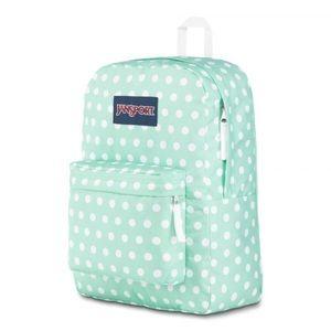 Jansport backpack polka dot travel book bag